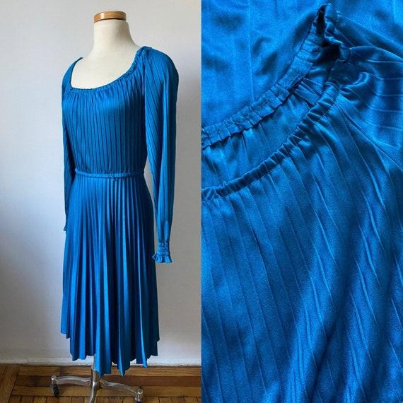 70s Pleated Disco Dress