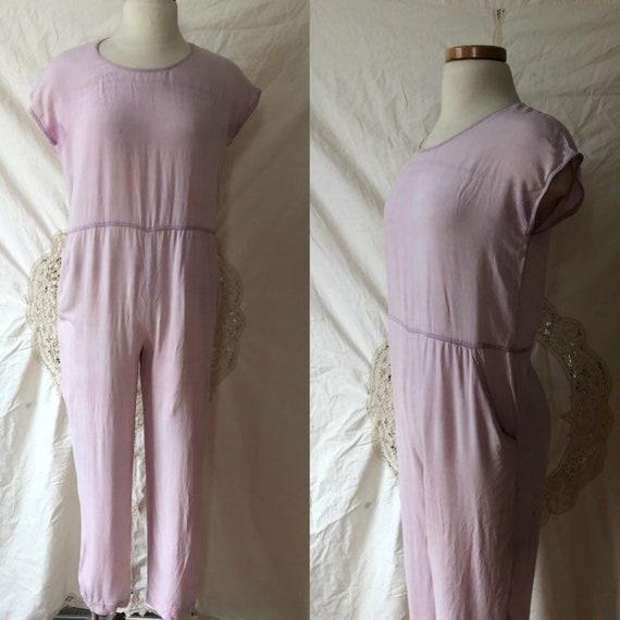 lavender 60s jumpsuit