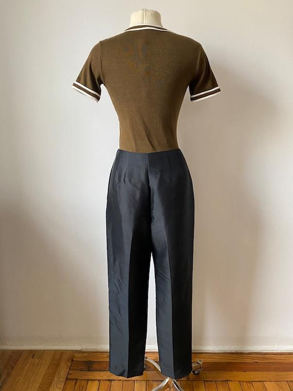 onyx silk trousers - image 6