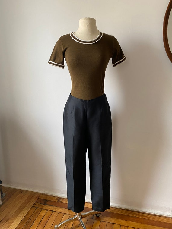 onyx silk trousers - image 3