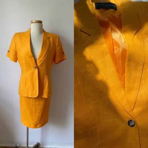 Tangerine skirt set