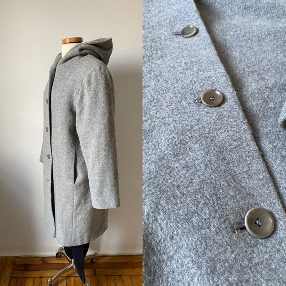 Mohair Hooded Coat