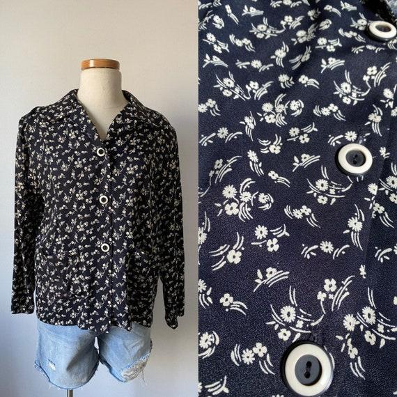 Floral chore jacket