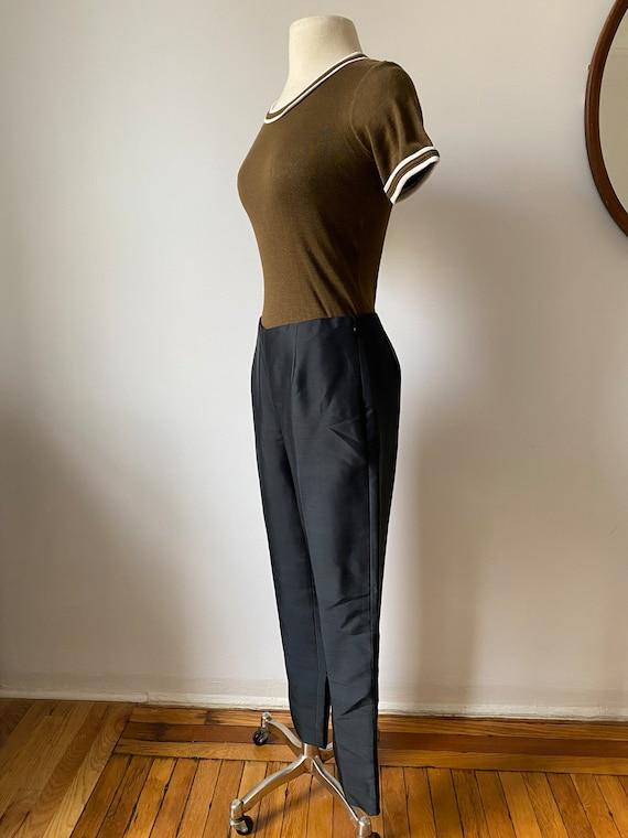 onyx silk trousers - image 5