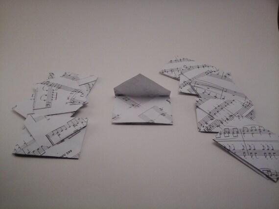 10 Mini Briefumschlage Geldgeschenk Noten Etsy