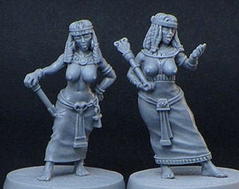 Egyptian Fighters 28mm resin fantasy female miniatures