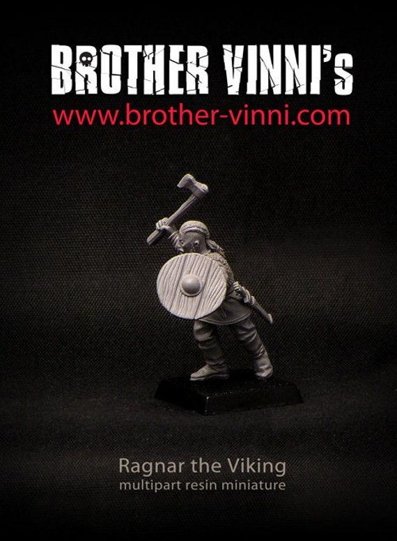 SAGA: Ragnar Lothbrok (28mm wargame miniature, viking figure)