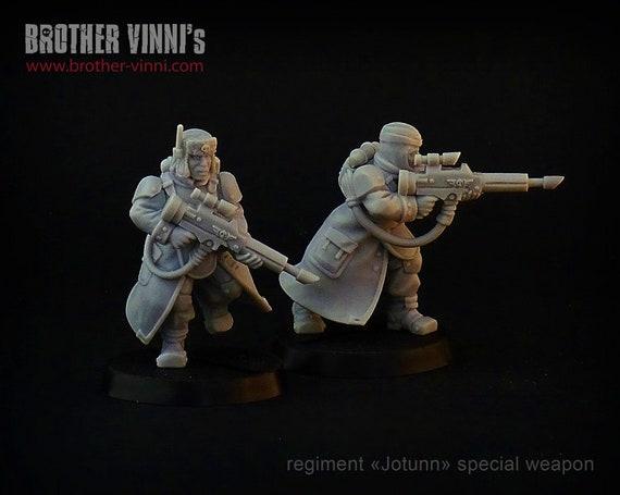 valhallans, warhammer 40k, 28mm miniature, warhammer 40k miniatures, astra militarum, imperial guard 40k, wargaming Jotun Sergeant