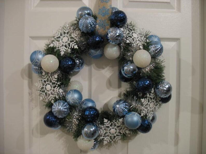 Winter wonderland blue and white