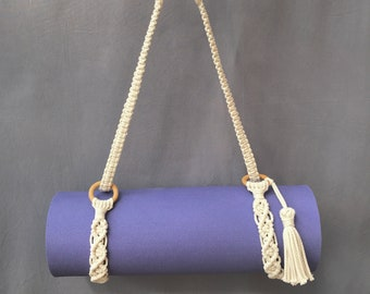 "Macrame Yoga Strap ""Namaste"" - Yoga Mat - Yoga Strap - Yoga Mat Holder - Yoga Mat Strap - Yoga Mat Strap"