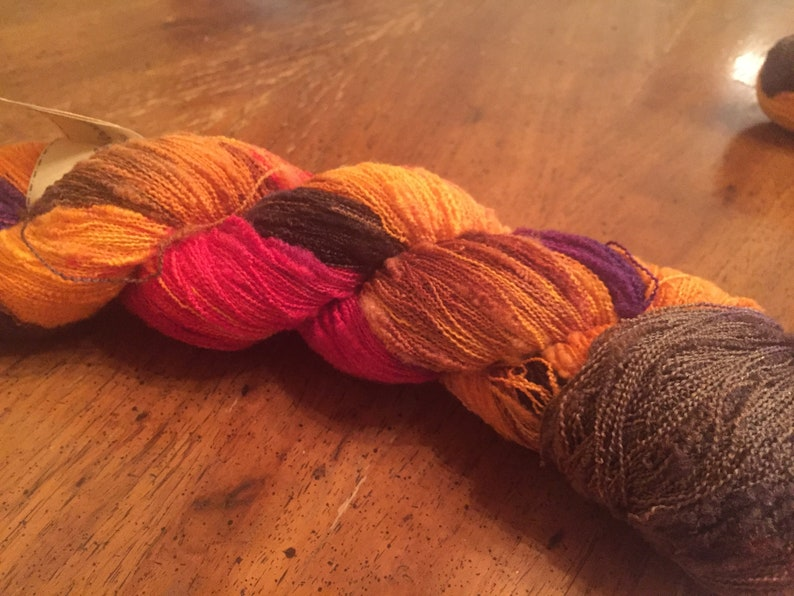 Fall Foliage Cherry Tree Hill Wool in the Woods Boucle Lace
