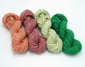 hand knit chunky yarn Mint chunky knit wool learn to knit