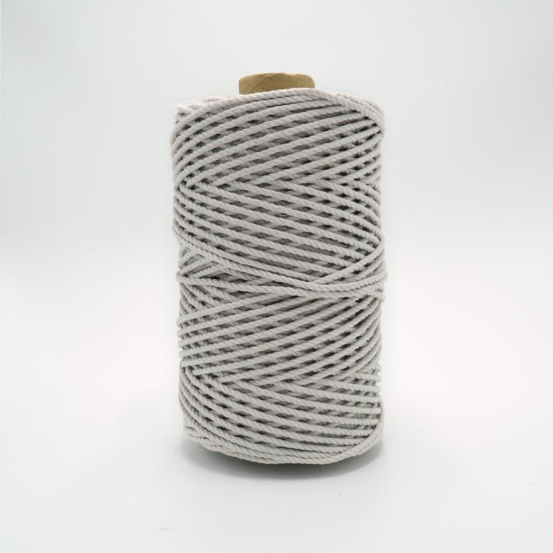 100/% Recycled Cotton CordIvory3mm4mm5mm Soft StringRope Macrame Single StrandTwisted 3 Ply Triple StrandBulk Supplies1100 ft720 ft