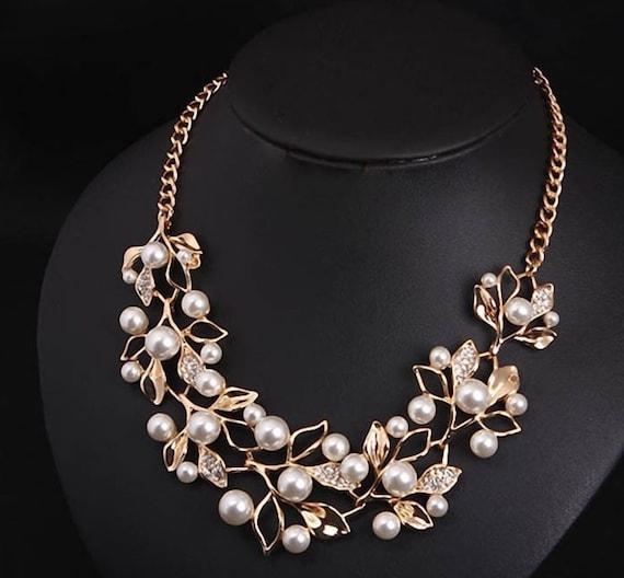 CS-DB Pendants Pearl Trendy Silver Necklaces