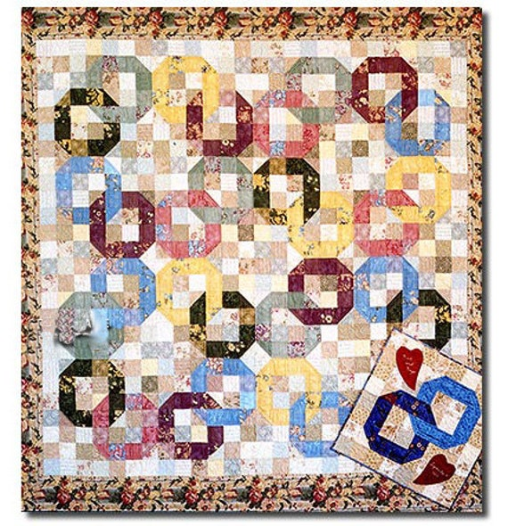 Wedding Rings Quilt Pattern Scrap Quilt Pattern Fat Quarter Etsy
