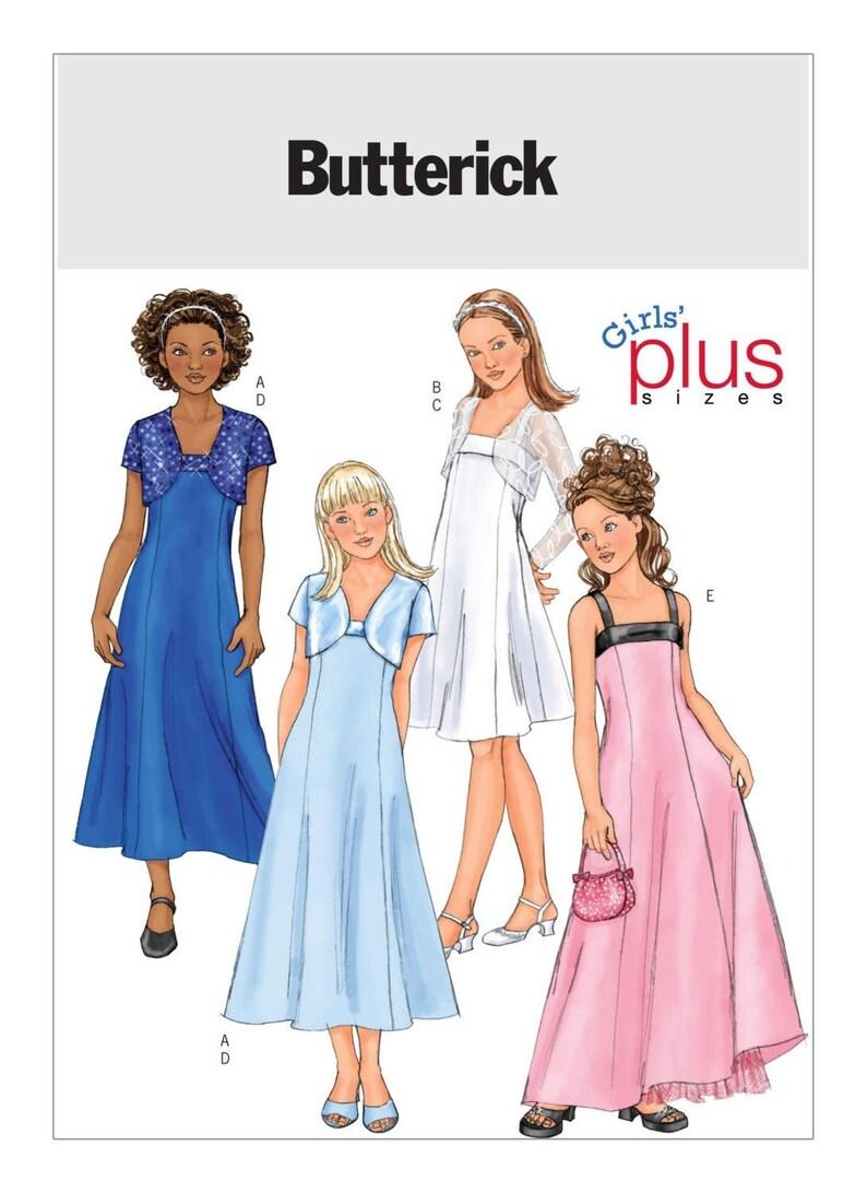 GIRLS JACKET and DRESS Sewing Pattern – Butterick 4385, Size 7-14, Flower  Girl Dress Pattern, Girls Dress Pattern, Wedding Dress Pattern