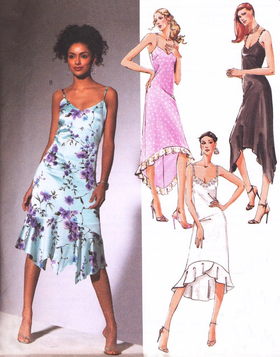 Mermaid Style Dress Slip Dress Sewing Pattern Mccalls 4445 Etsy