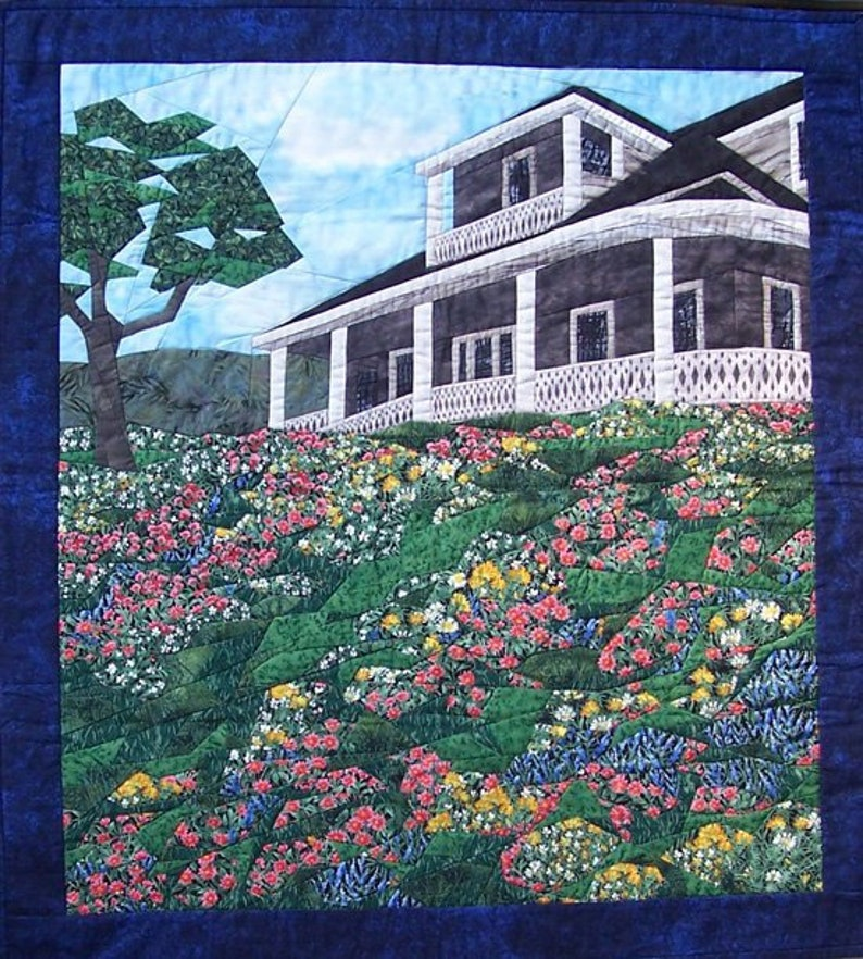 Cynthia England Design Studios SPLIT RAIL Landscape Art Quilt Pattern by