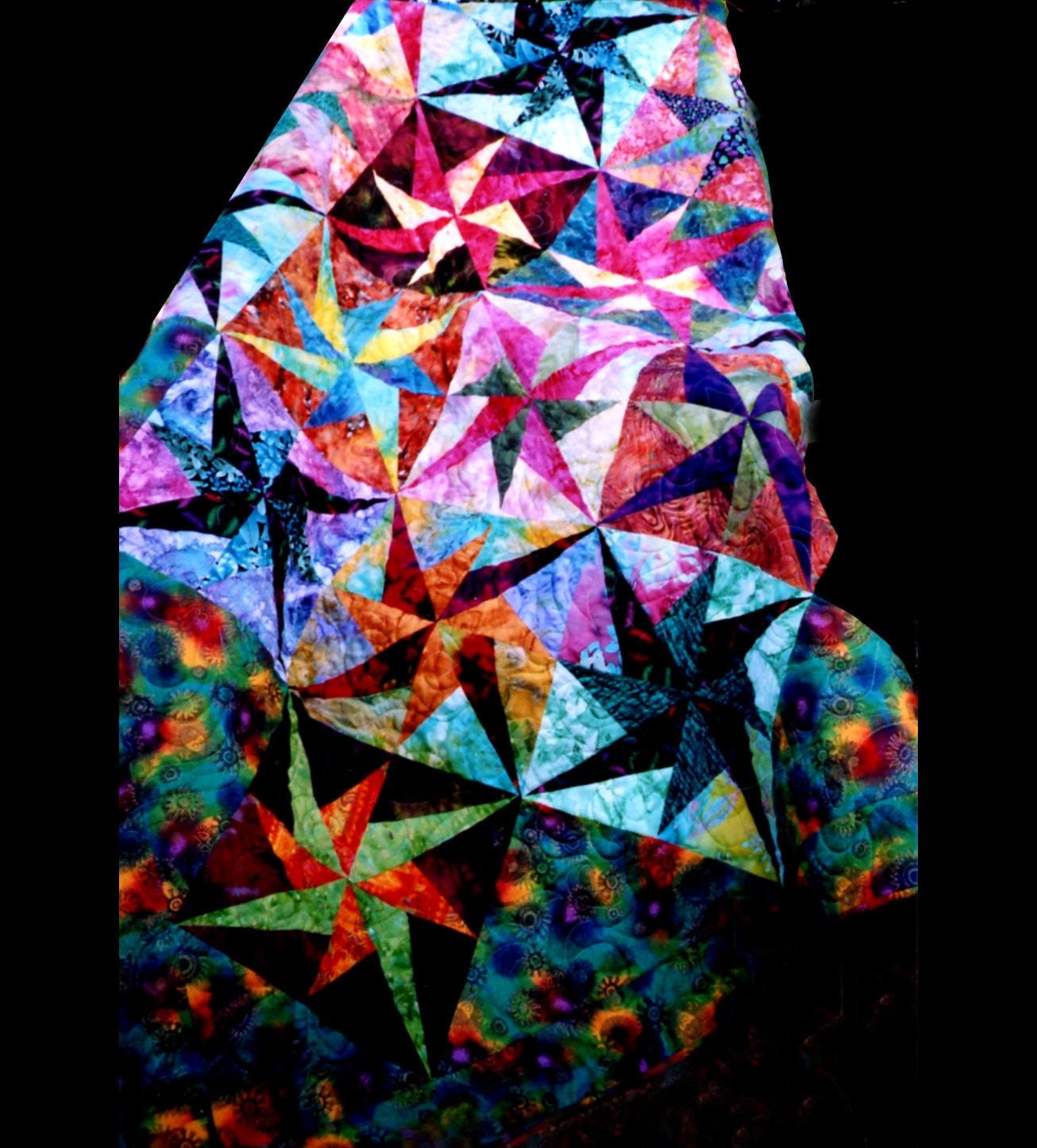Moonlight Sonata Pottery Barn: MOONLIGHT SONATA Quilt Pattern Paper Pieced Uses Fabric