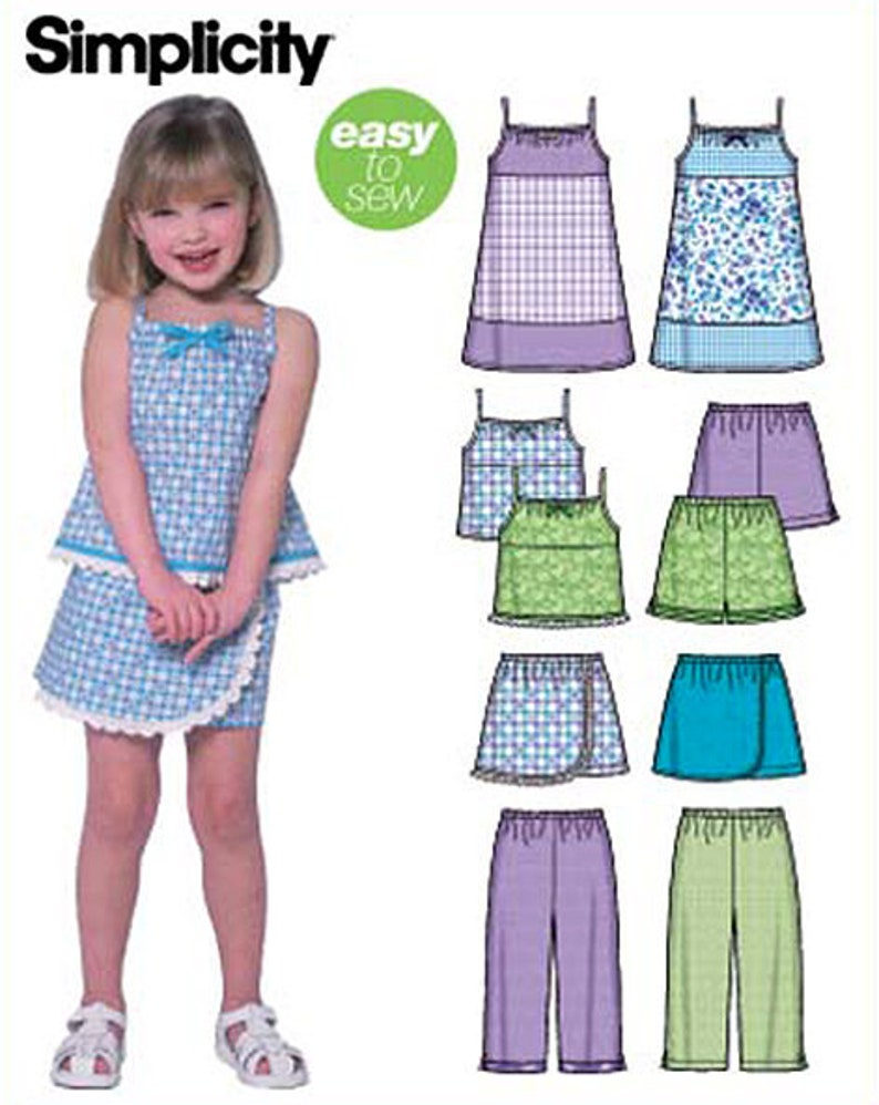 Skort and Mini Skirt D5 Simplicity Sewing Pattern 1370 Misses/' Short Shorts