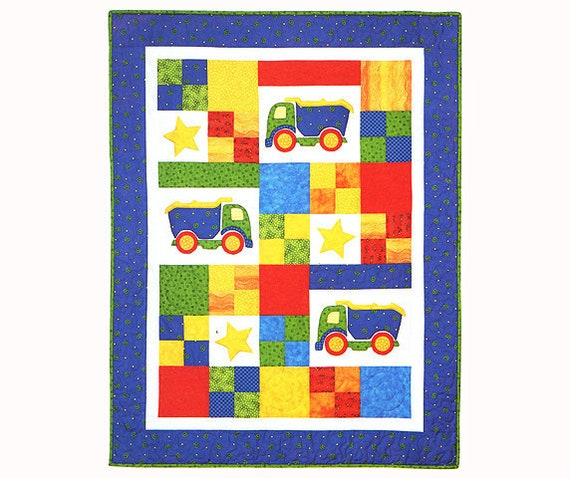 TOY TRUCKS Quilt Pattern Childrens Quilt Pattern Fat Etsy New Quilt Patterns For Boys