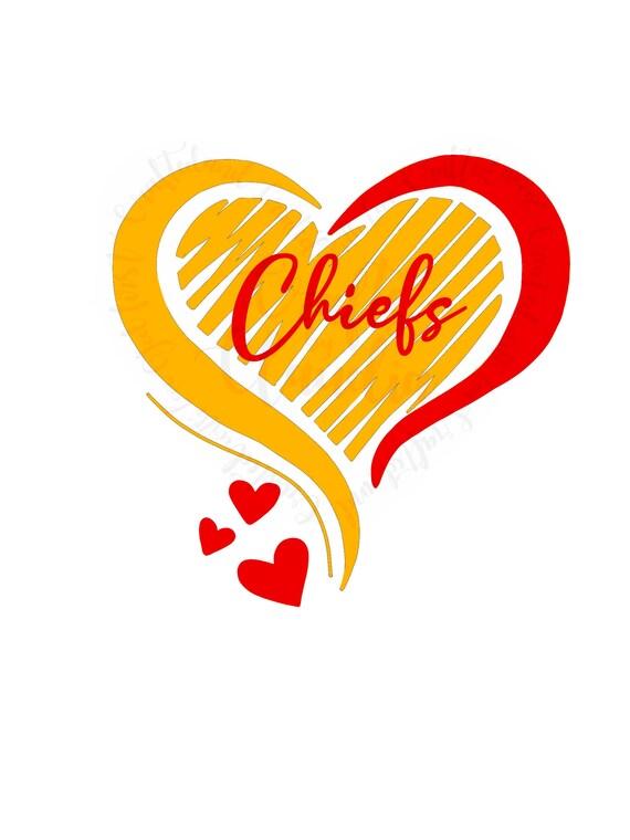 Chiefs Heart Pattern Etsy