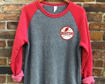 66e0e94654c Boston Red Sox Vintage Patch Crewneck Sweatshirt