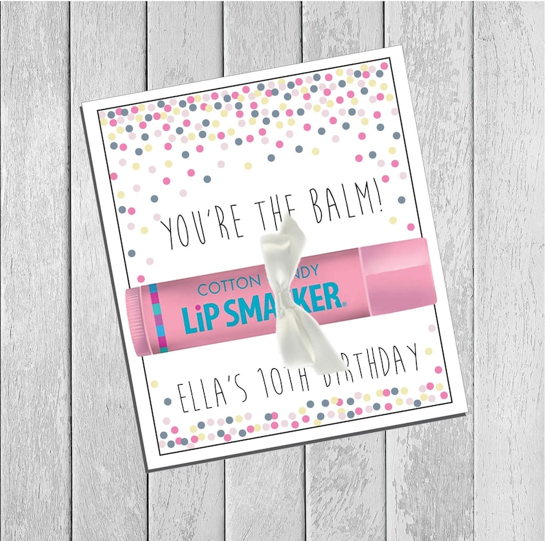 picture about You're the Balm Printable named Released or Printable Custom made Youre the Balm Lip Balm Holder Card - Confetti Print - Birthday Prefer, Thank Oneself, Valentine Present, Exactly Since