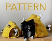PATTERN Mini Mega Beehive Crochet Pet Cave Hide House Bed Pattern for Hedgehog Rat Ferret Guinea Pig Cat Small Dog