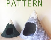 PATTERN Mini Mega Mountain Crochet Pet Cave Hide House Bed Pattern for Hedgehog Rat Ferret Guinea Pig Cat Small Dog