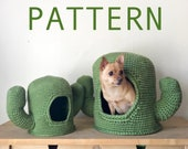 PATTERN Mini Mega Cactus Crochet Pet Cave Hide House Bed Pattern for Hedgehog Rat Ferret Guinea Pig Cat Small Dog