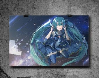 Vocaloid - Galaxy Hatsune Miku    11x17 Art Print Poster