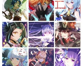 4x6 Photo Print - Genshin Impact    Venti/Childe Tartaglia/Ganyu/Xiao/Keqing/Hutao/Kamisato Ayaka/Yoimiya/Baal Raiden Shogun Raiden Ei