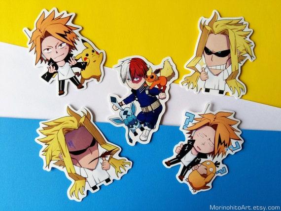 3 15 8cm Vinyl Sticker My Hero Academia Boku No Hero Academia Bnha Mha Shouto Todoroki Denki Kaminari All Might Vinyl Stickers