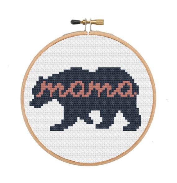 Animal cross stitch Cute cross stitch Small cross stitch baby cross stitch Indian bear cross stitch Bear cross stitch pattern PDF