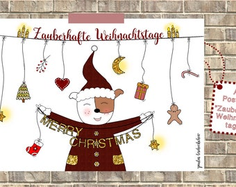 5 Christmas cards