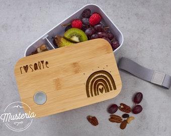 Brotzeitbox / Lunchbox Bambus mit individueller Gravur