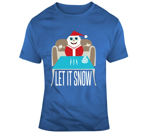 Let It Snow Christmas Holiday Song Funny Walmart Fan T Shirt