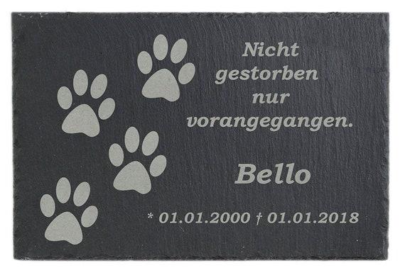 Gedenktafel Grabstein Grabplatte für Ihr Haustier aus Schiefer | Etsy