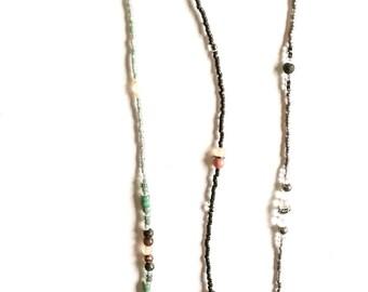 Rockery Beaded Ankle Bracelet