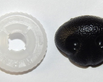 5 pieces plastic safety noses - black SUPER 15 x 10 mm - for teddy bears and cuddly toys