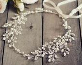 Crystal tiara Delicate hair vine Bridal hair piece Silver hair jewelry crown Crystal hair piece Bridal hair accessories Beautiful headpiece