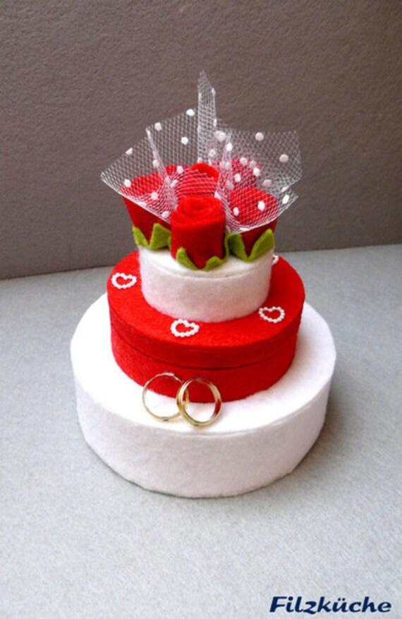 Hochzeit Geldgeschenke Torte Romantisch Filz Rote Rosen Etsy