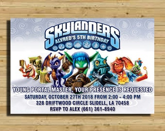 Skylanders Birthday Party Invitations Invitation Skylander Supplies