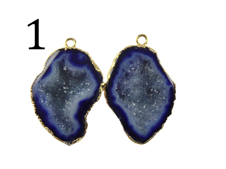 Rare Geodes Finding DIY Jewelry Making Supplies Red Earrings Components Purple Cave Geode Gold Plated Earring Connectors DIY Earrings