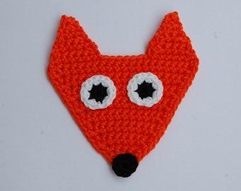 Crochet Fox Applique Etsy