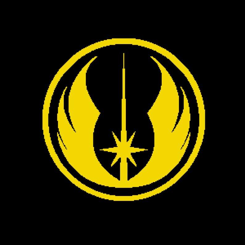INSPIRED by Star Wars cross stitch pattern-Jedi Order symbol-Rebel symbol Imperial symbols Rebel Alliance Symbol-silhouette-PT-83