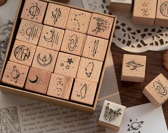 Rubber stamp set BLOWBALL 3 pieces