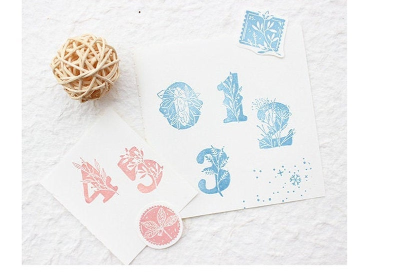 rubber stamp vintage  Numbers Stamps rubber stamps Clear stamps rubber stamp set clear stamp set