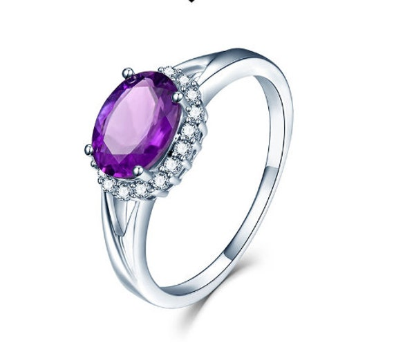 Handmade Ring Amethyst Ring 925 Sterling Silver Ring Gift For Her Silver Ring Women Ring Anniversary Rings Amethyst Engagement Ring